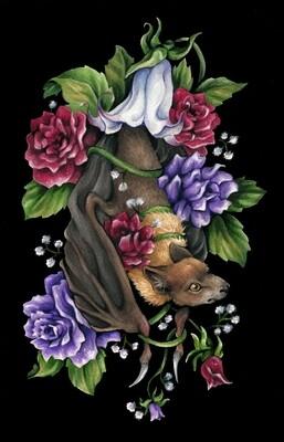 """""""Forbidden Fruit Bat"""" Art Print"""