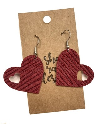 Cranberry Heart Cutouts