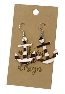 Anchor Black & White Stripes