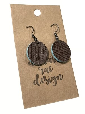 Brown Turquoise Small Circles