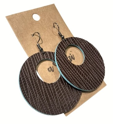 Brown Turquoise Large Circle Cutouts