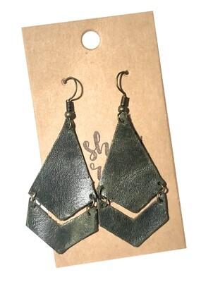 Dark Green Long Double Arrows