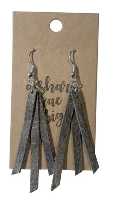 Triple Strands Leather Weathered Gray