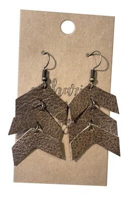 Triple Arrows Textured Brown