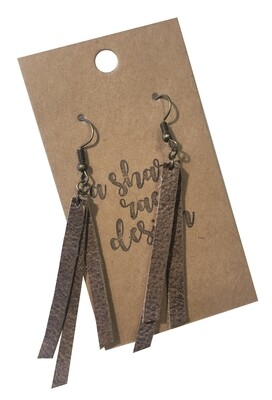 Triple Strands Leather Textured Brown