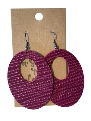 Burgundy on Red Oval Cutouts