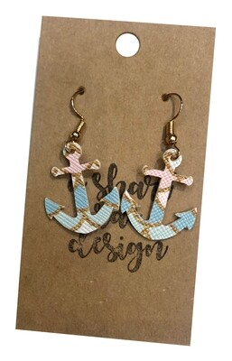 Anchor Mermaid Scales Pink & Blue