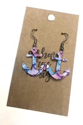 Anchor Mermaid Scales Purple