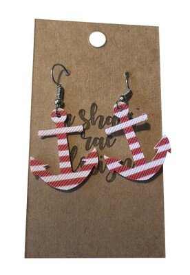 Red & White Stripe Anchors