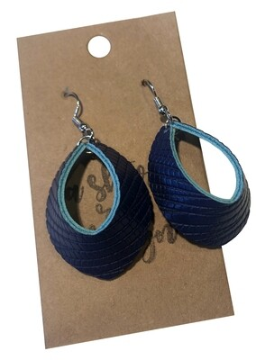 Navy on Teal Foldovers Small