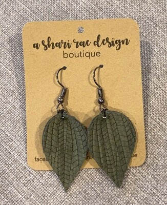 Army Green Small Pinched Leaf