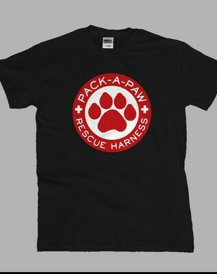 Wear your Pack-A-Paw T-shirt proudly! 100% of the profits from the sale of these shirts goes to charity. Let everyone know how much you love your dog and that you have helped someone in need!