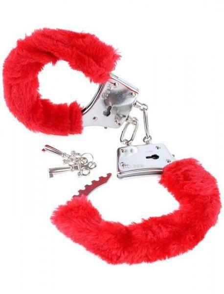 Fetish Fantasy Furry Cuffs Red