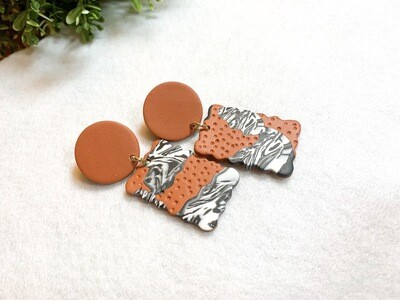 Oni    Polymer Clay Earrings