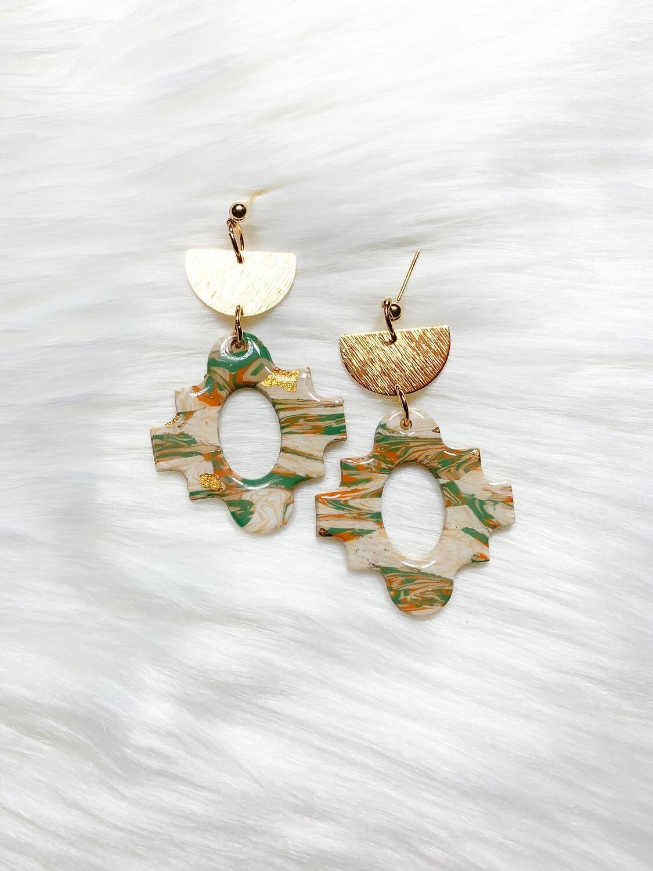 Nima || Polymer Clay Earrings