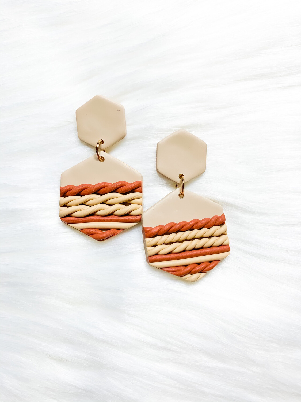 Moremi || Polymer Clay Earrings