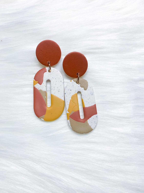Emira || Polymer Clay Earrings