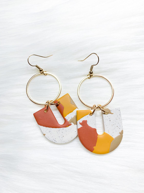 Nira || Polymer Clay Earrings