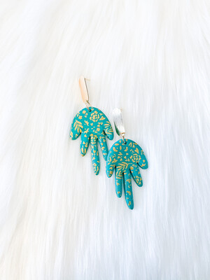 Lily    Polymer Clay Earrings