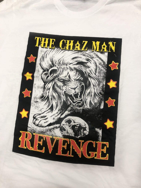 The Chaz Man. Revenge T-shirt in White