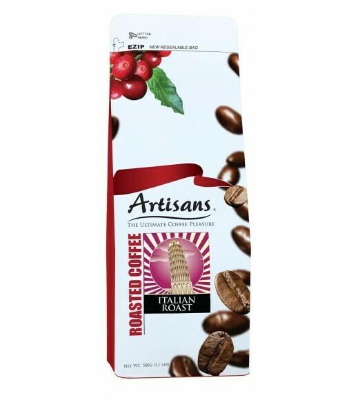 Artisans ITALIAN ROAST 500 grams - GROUND Coffee