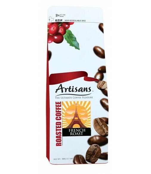 Artisans FRENCH ROAST 500 grams - GROUND Coffee