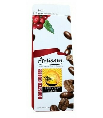 Artisans BREAKFAST BLEND 500 grams - GROUND Coffee