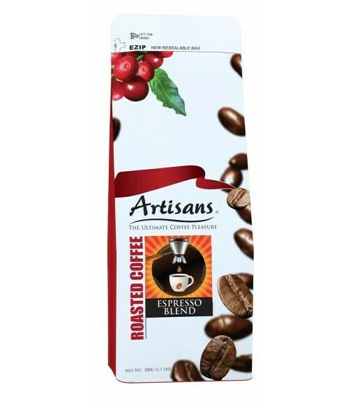 Artisans ESPRESSO BLEND 500 grams - GROUND Coffee