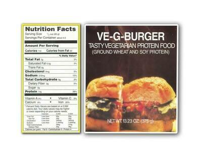 VE-G-BURGER - Vegetarian Meat -  375g
