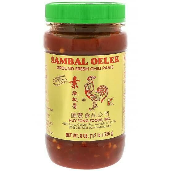 Huy Fong SAMBAL OELEK (FRESH GROUND CHILI SAUCE) 8 oz - Original