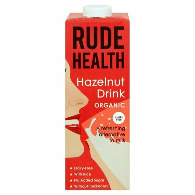Rude Health Organic HAZELNUT DRINK Milk 1L