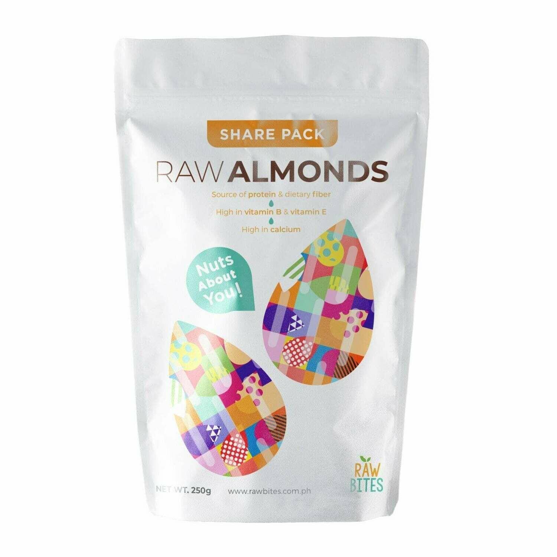 Raw Bites Raw Almonds 250g