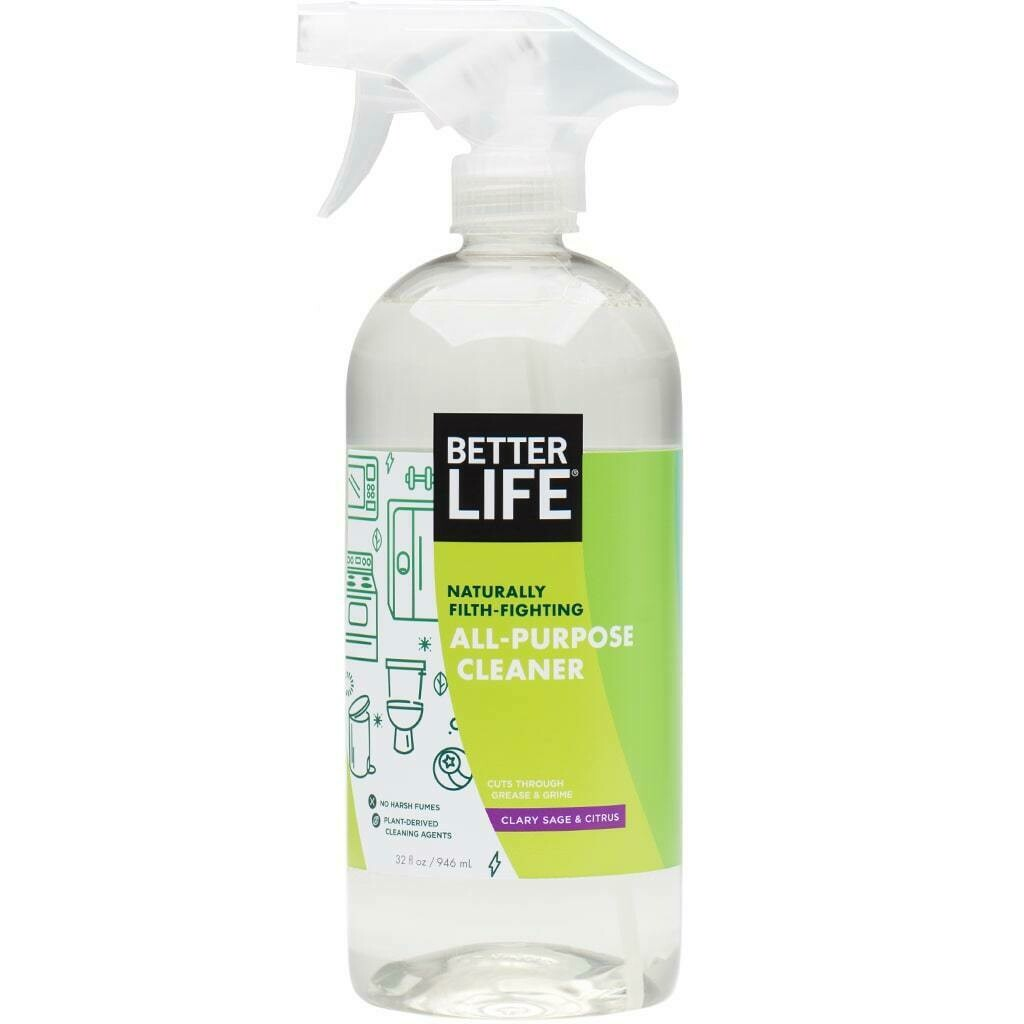 Better Life All-Purpose Cleaner, Clary Sage & Citrus, 32oz/ 946ml