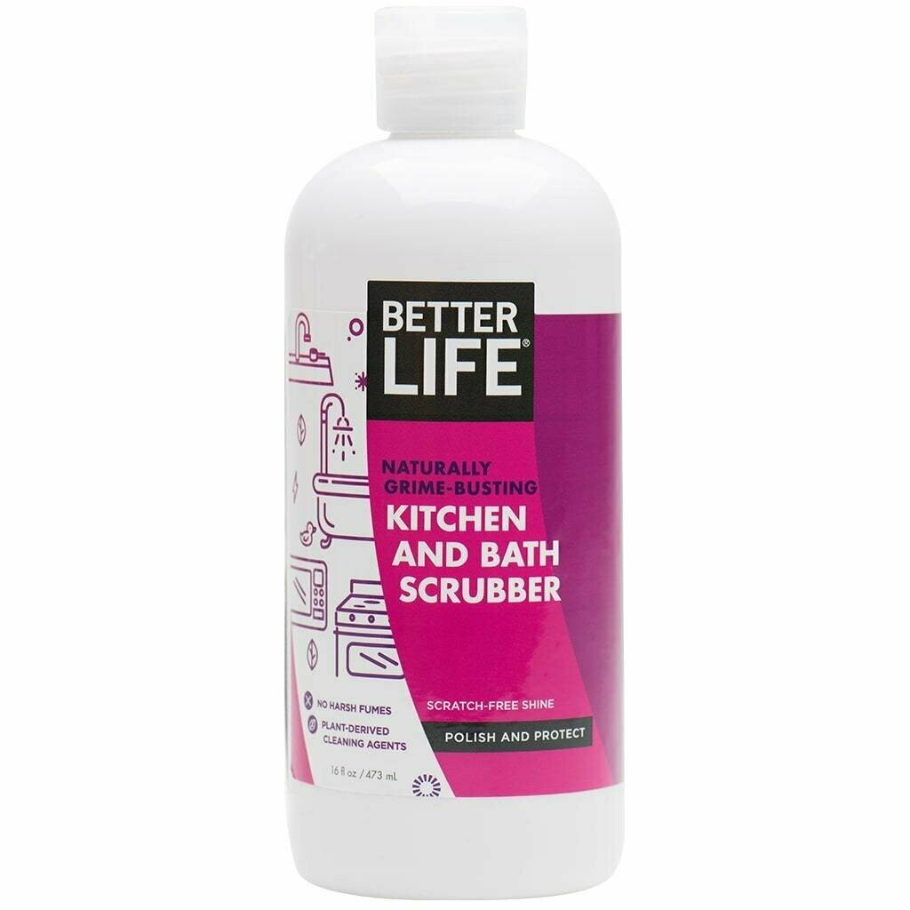 Better Life Kitchen and Bath Scrubber, Scent-Free, 16oz/ 473ml