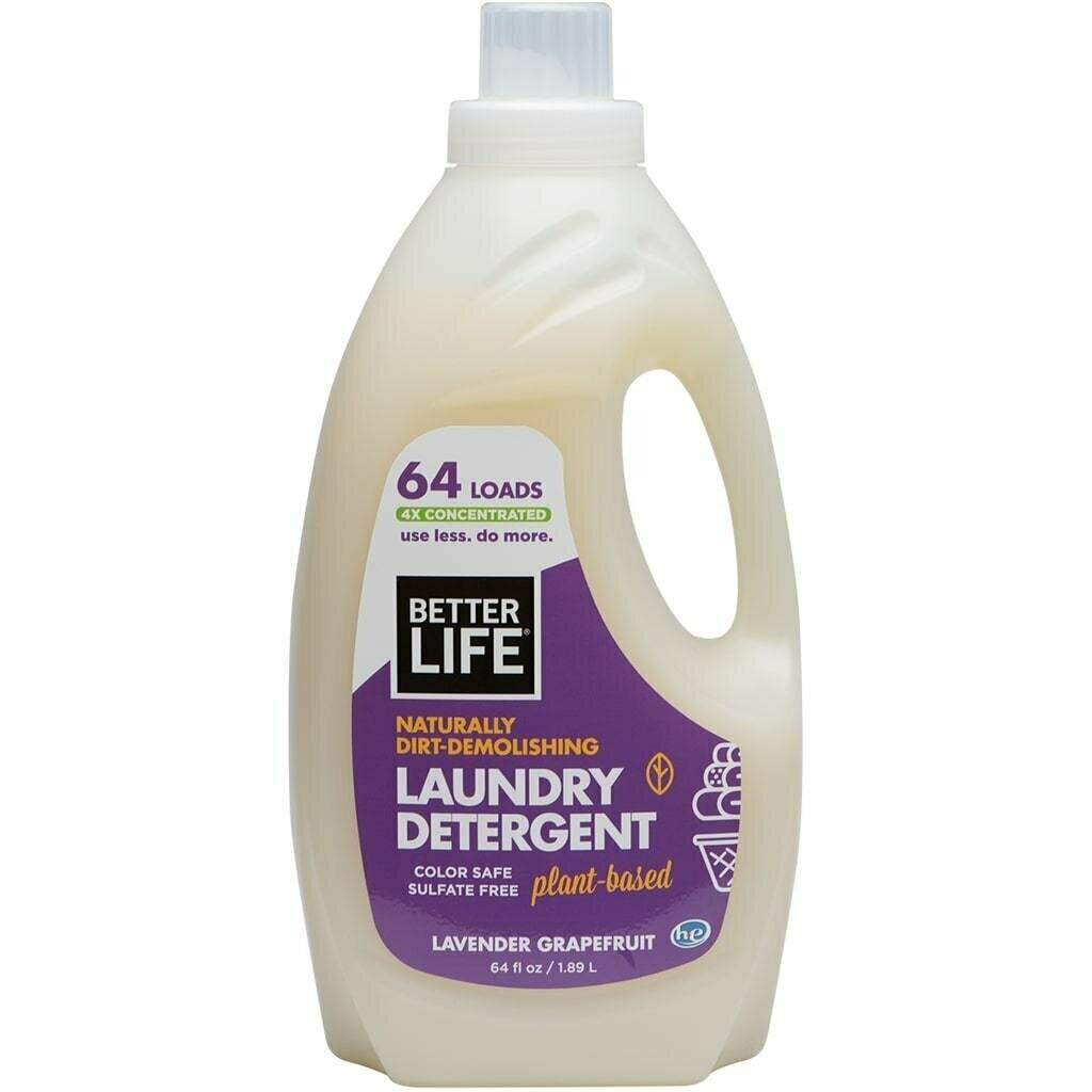 Better Life Laundry Detergent, Lavender & Grapefruit, 64oz/ 1893ml