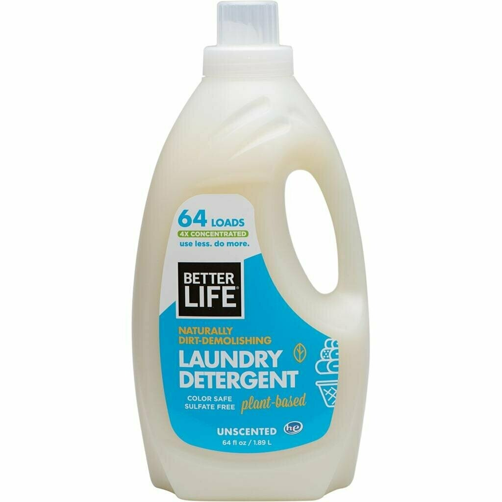 Better Life Laundry Detergent, Scent-Free, 64oz/ 1893ml