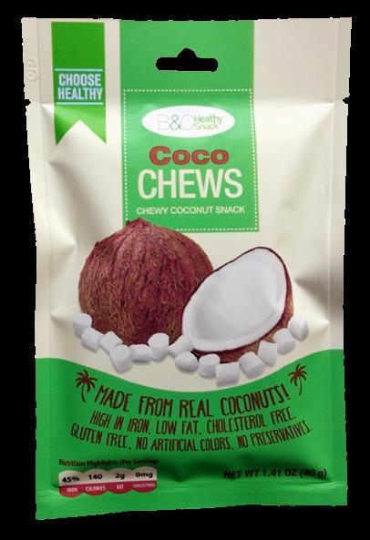 B&C Healthy Snack Coco Chews 40g