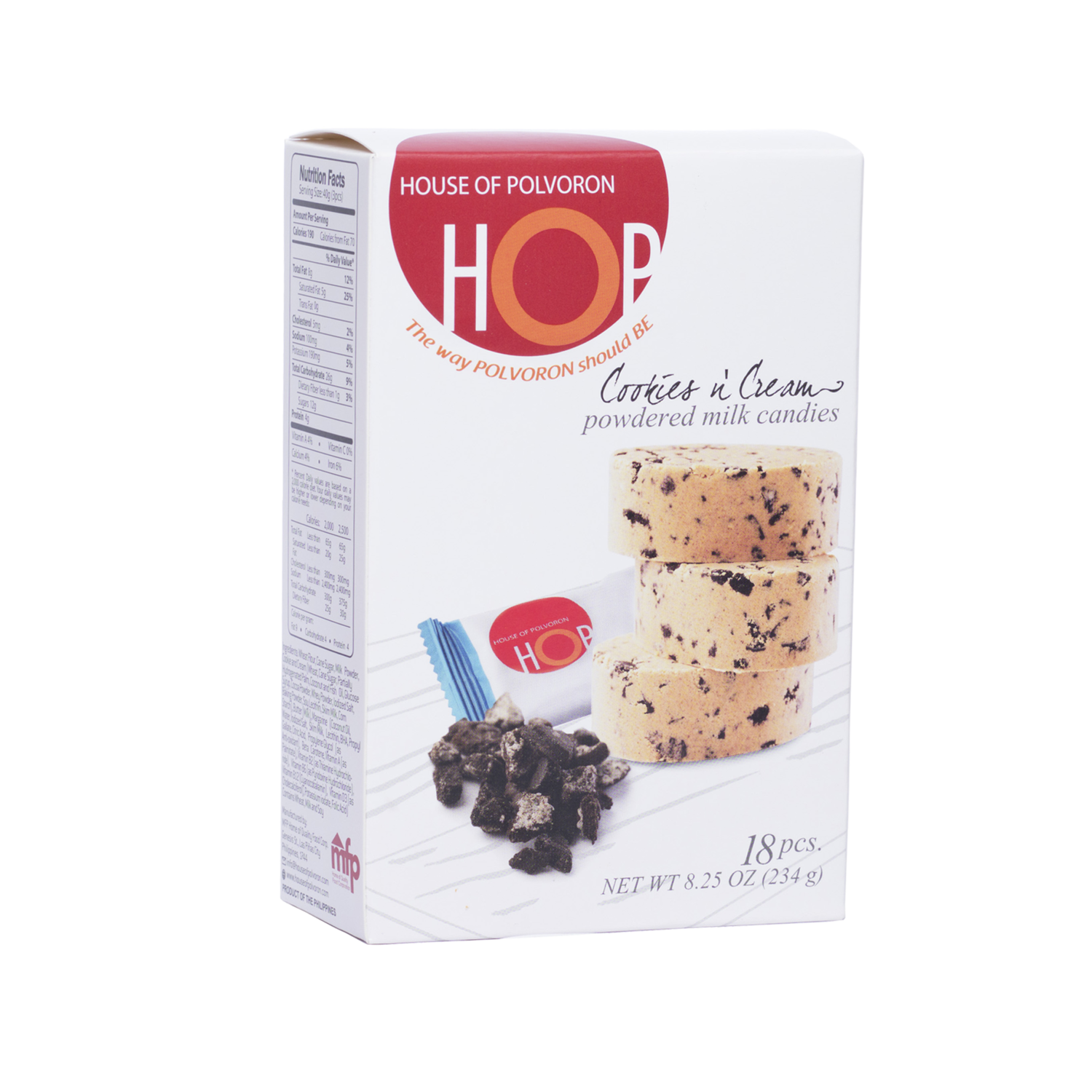 HOP Cookies and Cream Polvoron – 18 pcs – 234gr