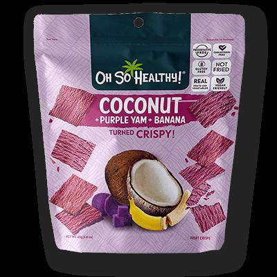 Oh So Healthy PURPLE YAM, BANANA, COCONUT 40 grams (Vegan)