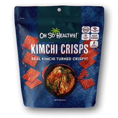 Oh So Healthy KIMCHI CRISPS 50 grams (Vegan)