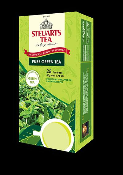 Steuarts PURE GREEN Tea - 25 tea bags