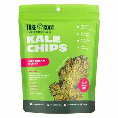 Take Root SOUR KREAM & CHIVE Kale Chips 35 grams (Vegan)