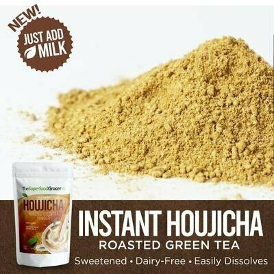 Premium Instant Houjicha Roasted Green Tea Drink 100 grams