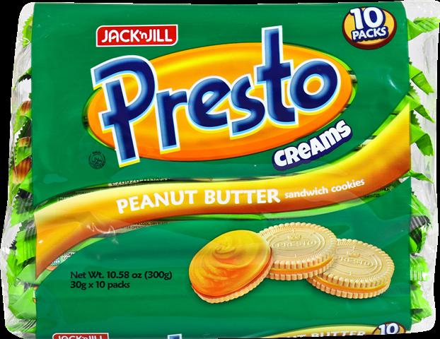 Presto Creams PEANUT 10 X 30g