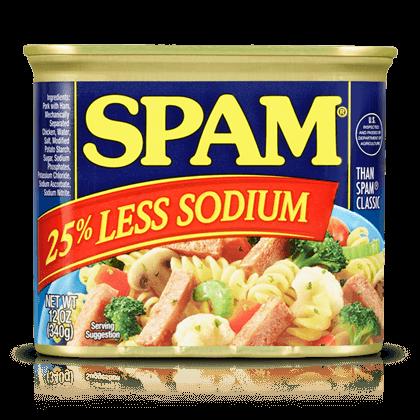 SPAM 25% LESS SODIUM 340g