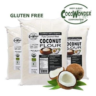 100% Organic Coconut FLOUR 1kg - Gluten Free, Non GMO