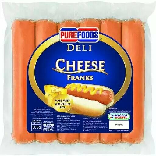 Deli CHEESE FRANKS 1kg
