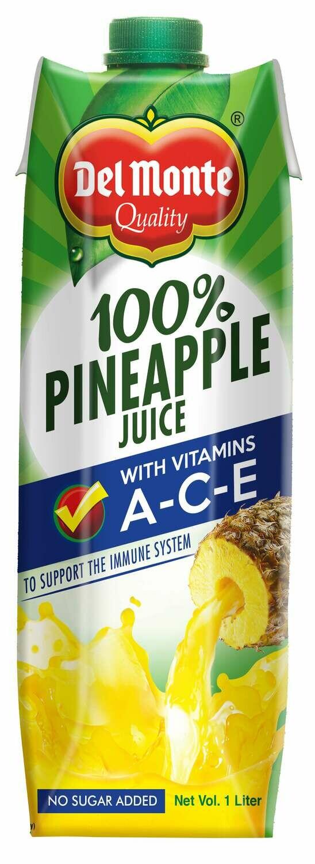 Del Monte 100% Pine Juice with Vitamin ACE 1 Liter