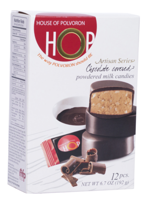 HOP Choco Covered Polvoron Box 192 grams – 12pcs