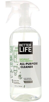 Better Life All-Purpose Cleaner, Scent-Free, 32oz/ 946ml